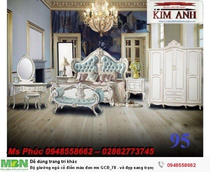 Bộ giường ngủ cổ điển màu đen ms GCĐ_78  - vẻ đẹp sang trọng, đẳng cấp đẹp lạ12