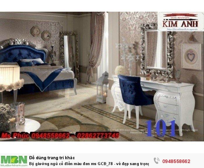 Bộ giường ngủ cổ điển màu đen ms GCĐ_78  - vẻ đẹp sang trọng, đẳng cấp đẹp lạ13