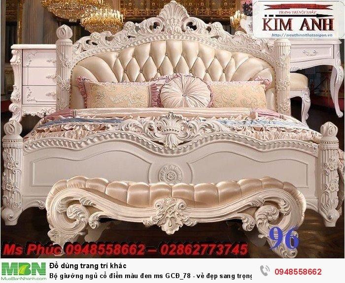 Bộ giường ngủ cổ điển màu đen ms GCĐ_78  - vẻ đẹp sang trọng, đẳng cấp đẹp lạ14