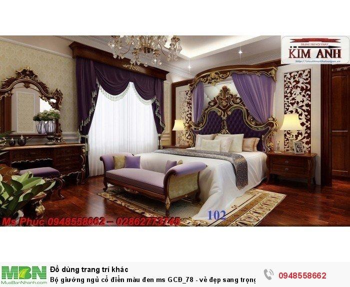 Bộ giường ngủ cổ điển màu đen ms GCĐ_78  - vẻ đẹp sang trọng, đẳng cấp đẹp lạ16
