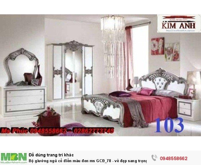 Bộ giường ngủ cổ điển màu đen ms GCĐ_78  - vẻ đẹp sang trọng, đẳng cấp đẹp lạ15