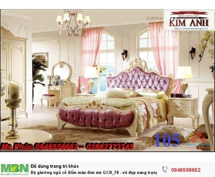 Bộ giường ngủ cổ điển màu đen ms GCĐ_78  - vẻ đẹp sang trọng, đẳng cấp đẹp lạ18