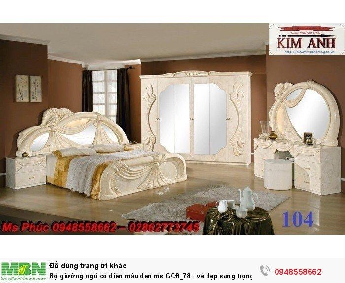 Bộ giường ngủ cổ điển màu đen ms GCĐ_78  - vẻ đẹp sang trọng, đẳng cấp đẹp lạ17