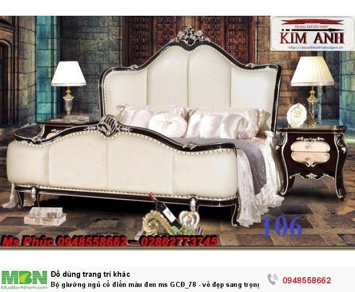 Bộ giường ngủ cổ điển màu đen ms GCĐ_78  - vẻ đẹp sang trọng, đẳng cấp đẹp lạ19