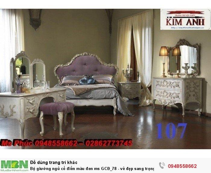 Bộ giường ngủ cổ điển màu đen ms GCĐ_78  - vẻ đẹp sang trọng, đẳng cấp đẹp lạ20