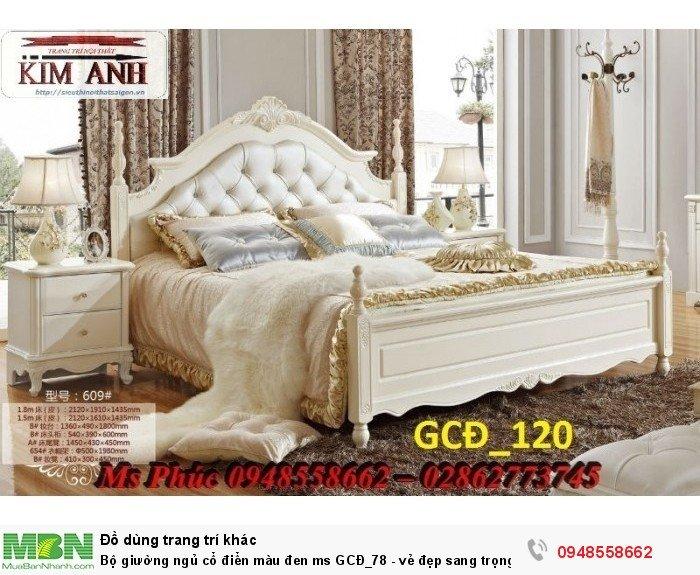 Bộ giường ngủ cổ điển màu đen ms GCĐ_78  - vẻ đẹp sang trọng, đẳng cấp đẹp lạ24