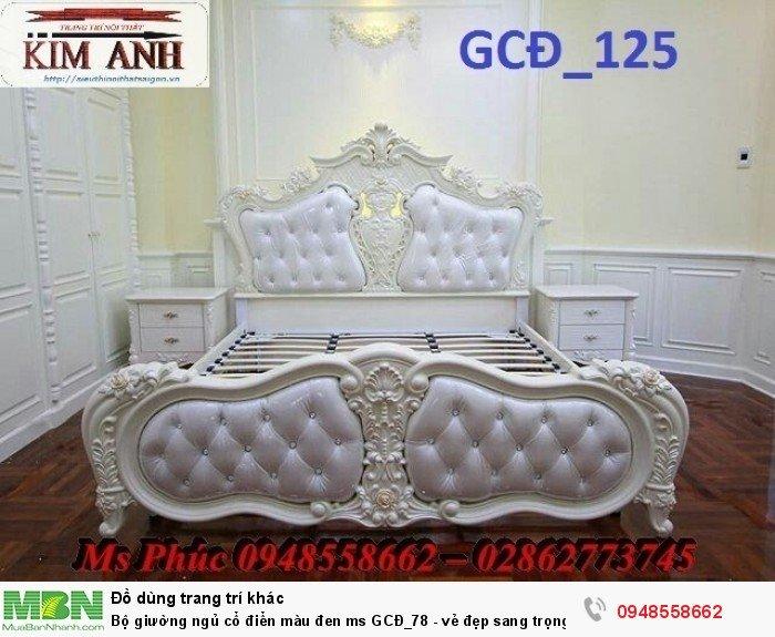 Bộ giường ngủ cổ điển màu đen ms GCĐ_78  - vẻ đẹp sang trọng, đẳng cấp đẹp lạ25