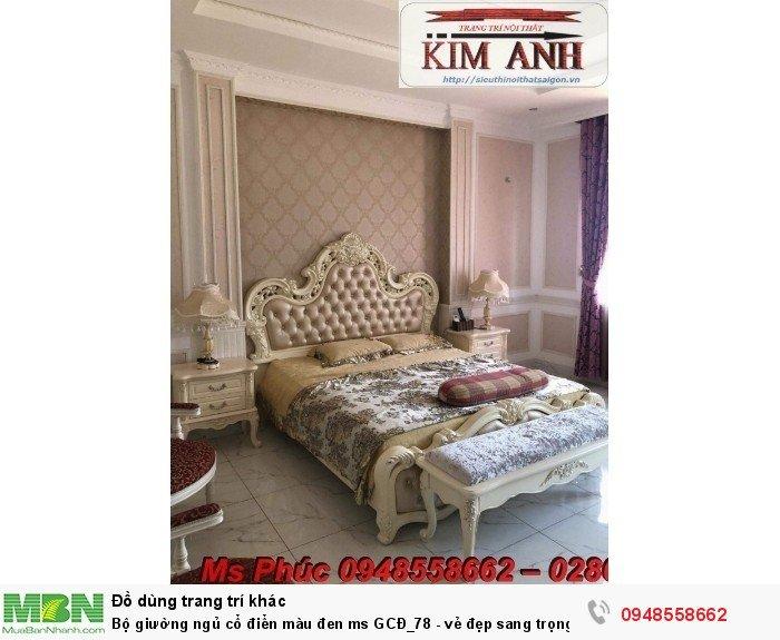 Bộ giường ngủ cổ điển màu đen ms GCĐ_78  - vẻ đẹp sang trọng, đẳng cấp đẹp lạ30