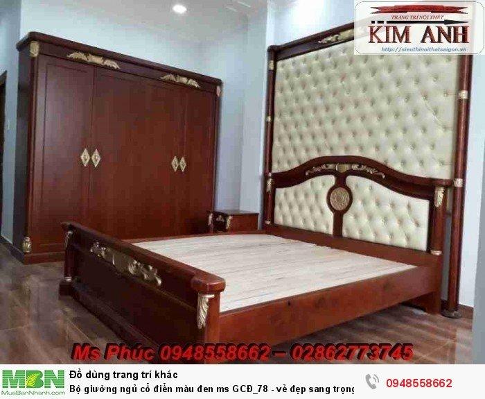 Bộ giường ngủ cổ điển màu đen ms GCĐ_78  - vẻ đẹp sang trọng, đẳng cấp đẹp lạ32
