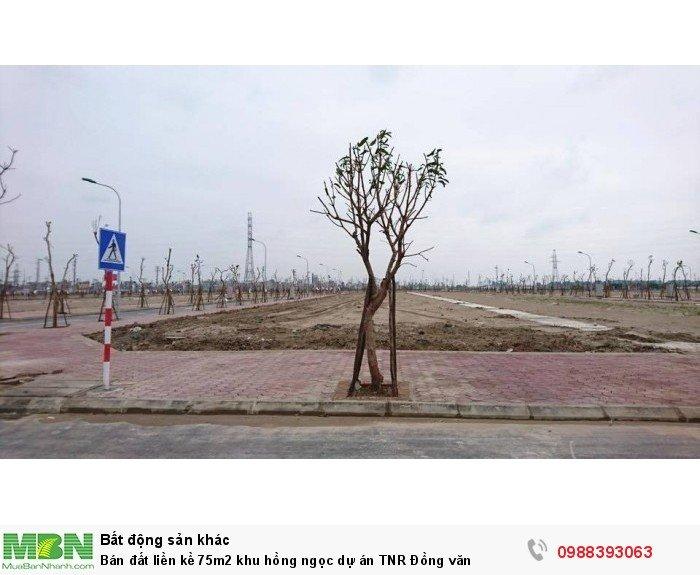 Bán đất liền kề 75m2 khu hồng ngọc dự án TNR Đồng văn