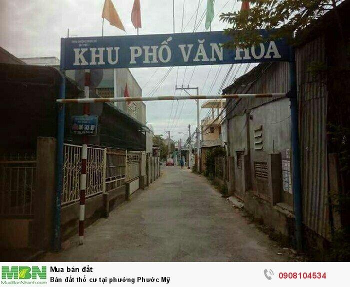 Bán đất thổ cư tại phường Phước Mỹ