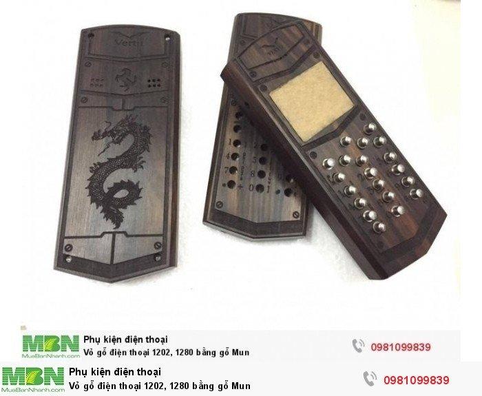 Vỏ gỗ điện thoại 1202, 1280 bằng gỗ Mun0