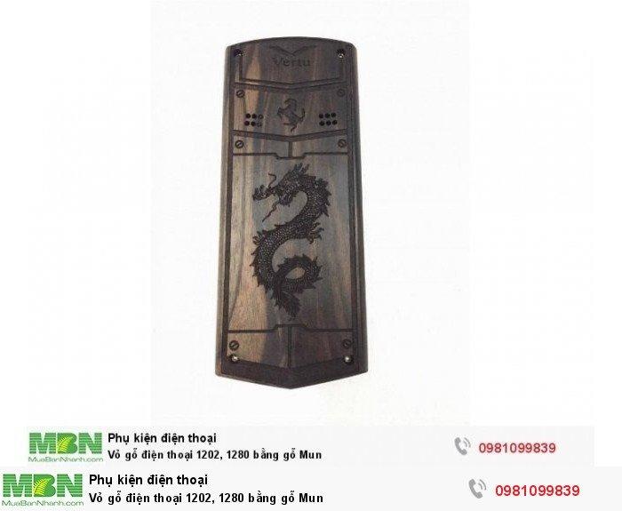 Vỏ gỗ điện thoại 1202, 1280 bằng gỗ Mun1