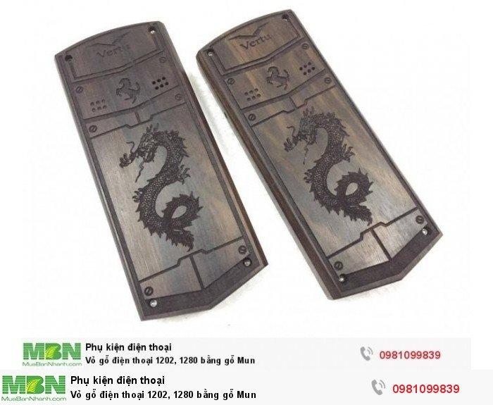 Vỏ gỗ điện thoại 1202, 1280 bằng gỗ Mun2