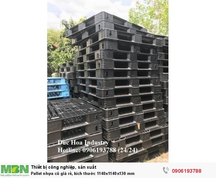 Pallet nhựa cũ giá rẻ, kích thước 1140x1140x130 mm - Liên hệ: 0906193788 (Nguyễn Hòa 24/24)