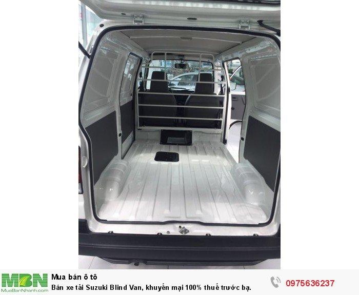 Bán xe tải Suzuki Blind Van, khuyến mại 100% thuế trước bạ.