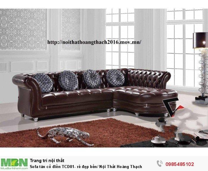 Sofa tân cổ điển TCD01- rẻ đẹp bền/ Nội Thất Hoàng Thạch