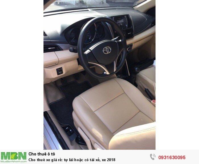 Cho thuê xe giá rẻ: tự lái hoặc có tài xế, xe 2018