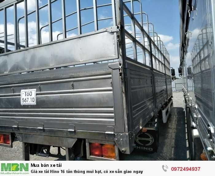 Giá xe tải Hino 16 tấn thùng mui bạt, có xe sẵn giao ngay