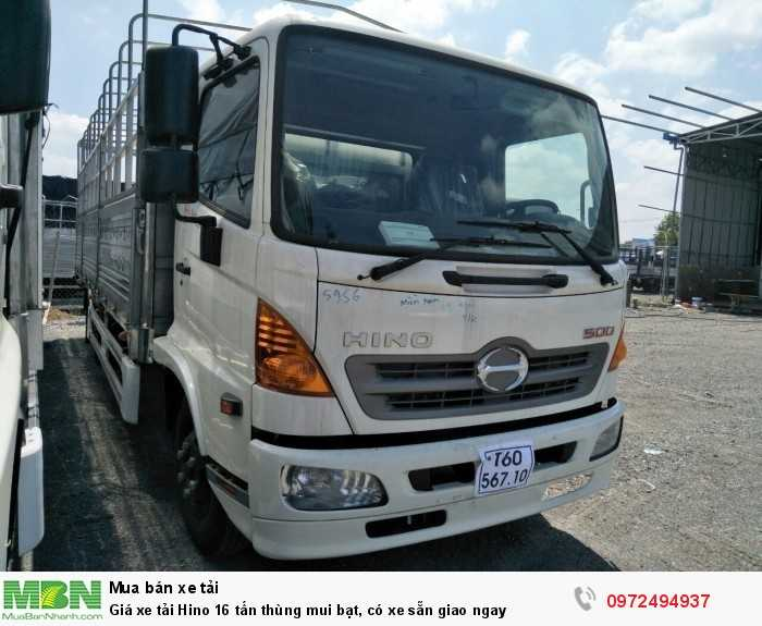 Giá xe tải Hino 16 tấn thùng mui bạt, có xe sẵn giao ngay 2
