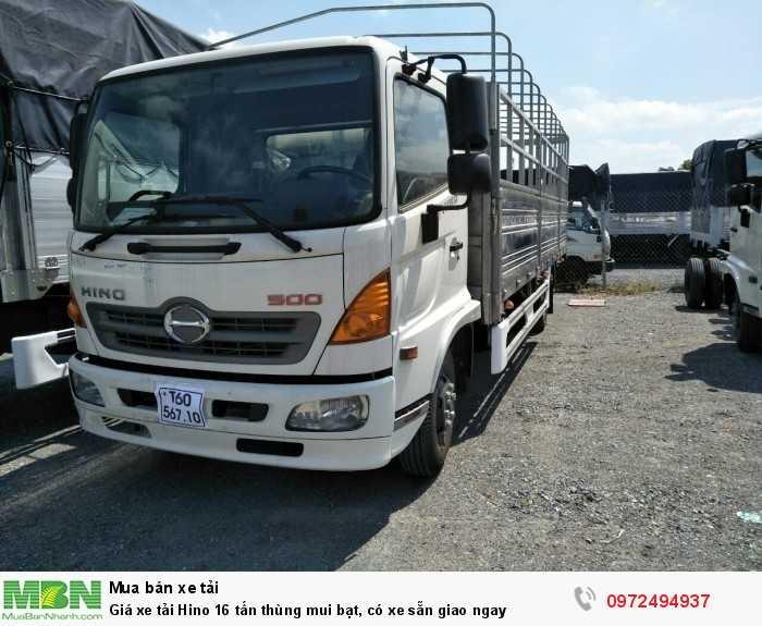 Giá xe tải Hino 16 tấn thùng mui bạt, có xe sẵn giao ngay 3