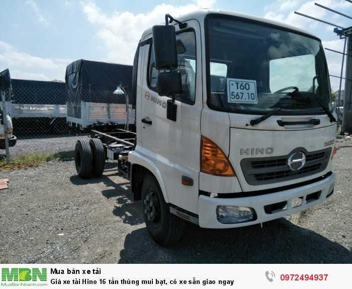 Giá xe tải Hino 16 tấn thùng mui bạt, có xe sẵn giao ngay 4