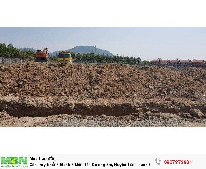 Còn Duy Nhất 2 Mảnh 2 Mặt Tiền Đường 8m, Huyện Tân Thành Vũng Tàu