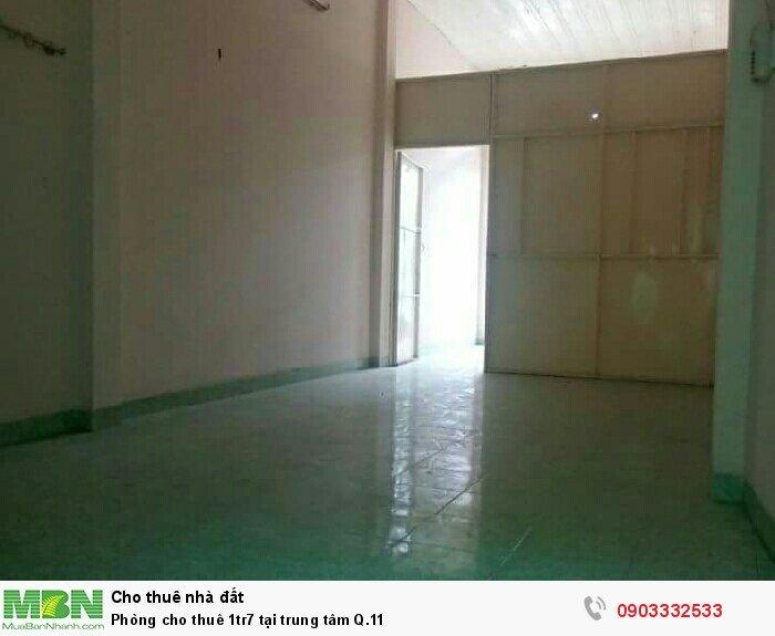 Phòng cho thuê 1tr7 tại trung tâm Q.11