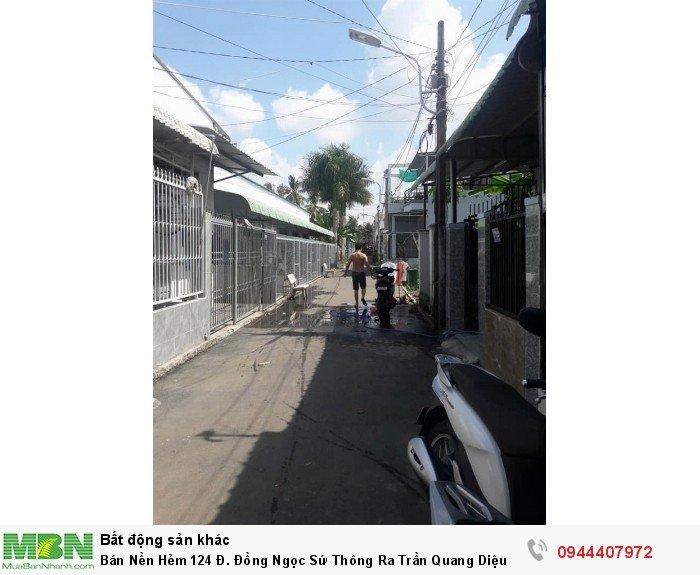 Bán Nền Hẻm 124 Đ. Đồng Ngọc Sứ Thông Ra Trần Quang Diệu Và Vành Đai Cách Chợ Cầu Ván 200m