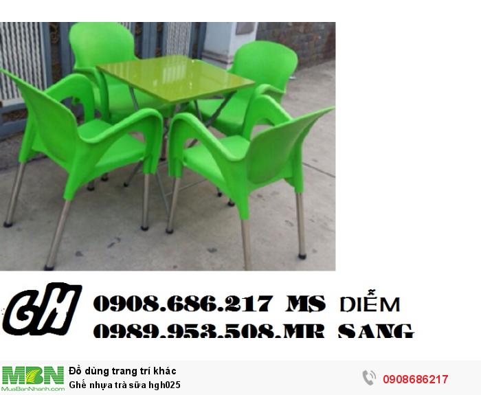 Ghế nhựa trà sữa hgh0250