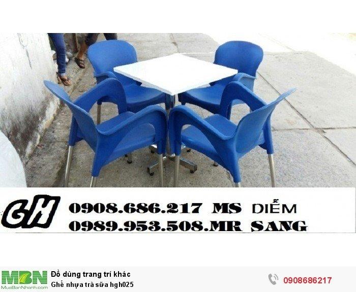Ghế nhựa trà sữa hgh0254