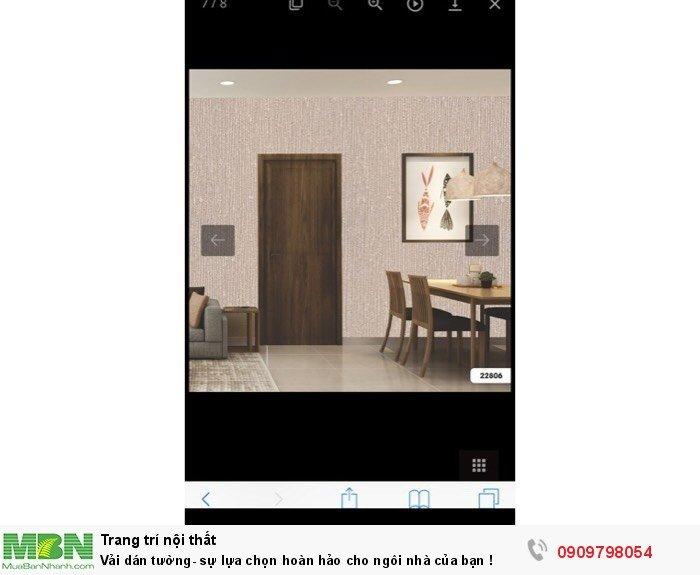 Vải dán tường- sự lựa chọn hoàn hảo cho ngôi nhà của bạn !