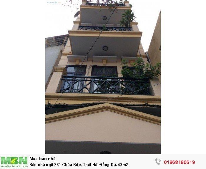 Bán nhà ngõ 231 Chùa Bộc, Thái Hà, Đống Đa. 43m2
