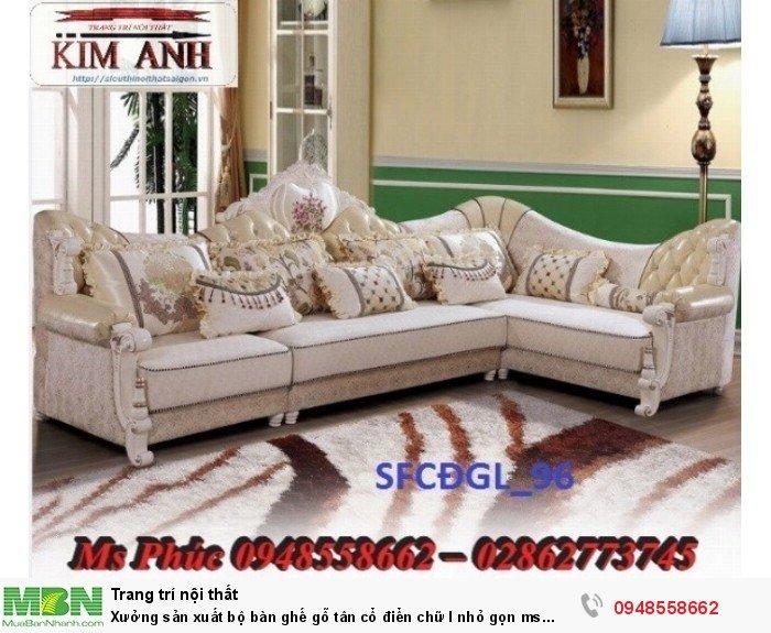 Xưởng sản xuất bộ bàn ghế gỗ tân cổ điển chữ l nhỏ gọn ms SFCĐGL_81 - nội thất Kim Anh15