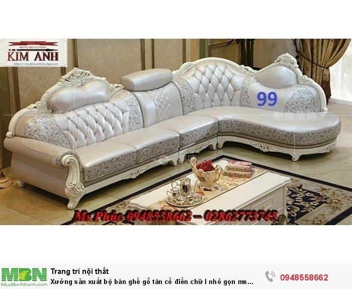 Xưởng sản xuất bộ bàn ghế gỗ tân cổ điển chữ l nhỏ gọn ms SFCĐGL_81 - nội thất Kim Anh18
