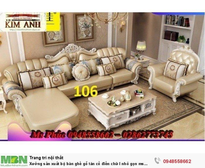 Xưởng sản xuất bộ bàn ghế gỗ tân cổ điển chữ l nhỏ gọn ms SFCĐGL_81 - nội thất Kim Anh25