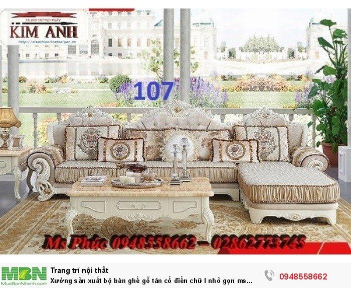Xưởng sản xuất bộ bàn ghế gỗ tân cổ điển chữ l nhỏ gọn ms SFCĐGL_81 - nội thất Kim Anh26