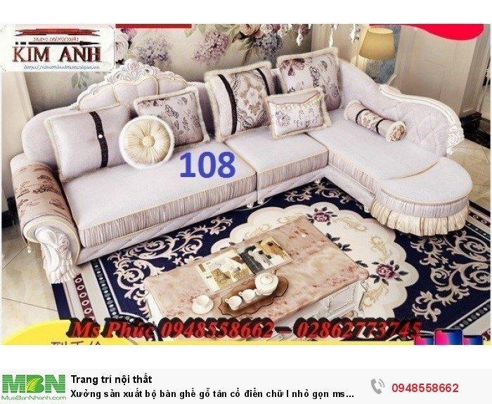 Xưởng sản xuất bộ bàn ghế gỗ tân cổ điển chữ l nhỏ gọn ms SFCĐGL_81 - nội thất Kim Anh27