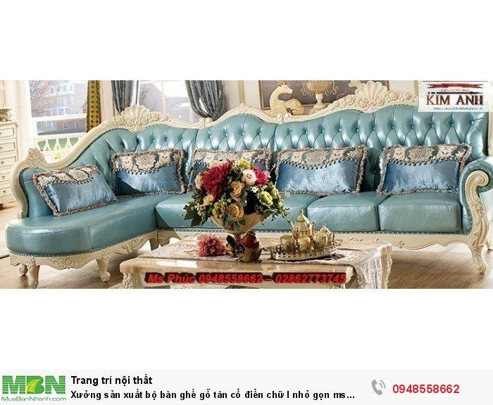 Xưởng sản xuất bộ bàn ghế gỗ tân cổ điển chữ l nhỏ gọn ms SFCĐGL_81 - nội thất Kim Anh31