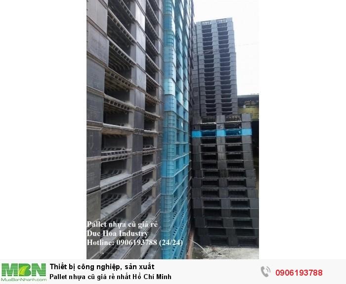 Duc Hoa Industry chuyên pallet nhựa cũ giá rẻ nhất Hồ Chí Minh, giao hàng toàn quốc - Liên hệ: 0906193788 (24/24)