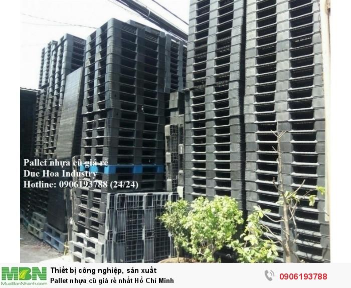 Pallet nhựa cũ giá rẻ nhất Hồ Chí Minh - Cam kết chất lượng, số lượng ổn định lâu dài - Liên hệ: 0906193788 (24/24)