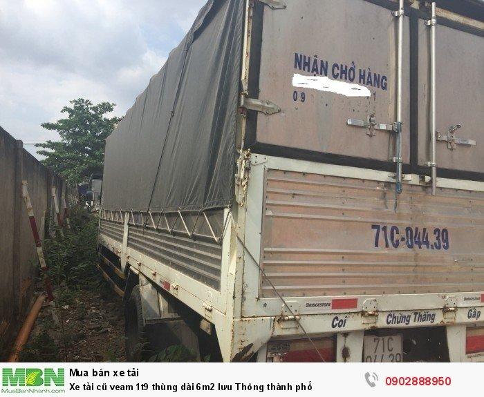 Xe tải cũ veam 1t9 thùng dài 6m2 lưu Thông thành phố 0