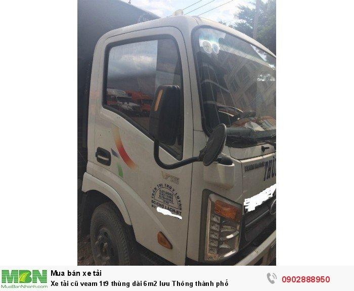 Xe tải cũ veam 1t9 thùng dài 6m2 lưu Thông thành phố 1
