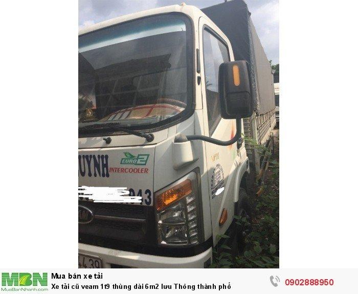 Xe tải cũ veam 1t9 thùng dài 6m2 lưu Thông thành phố 4