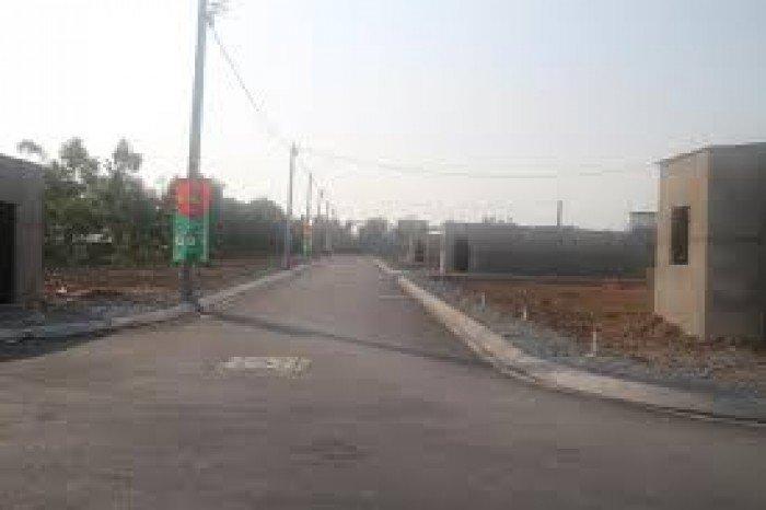 600m2 có tường rào, san lấp tị xã Phong Phú, điện nước đầy đủ