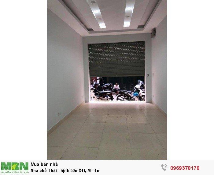 Nhà phố Thái Thịnh 50mX4t, MT 4m