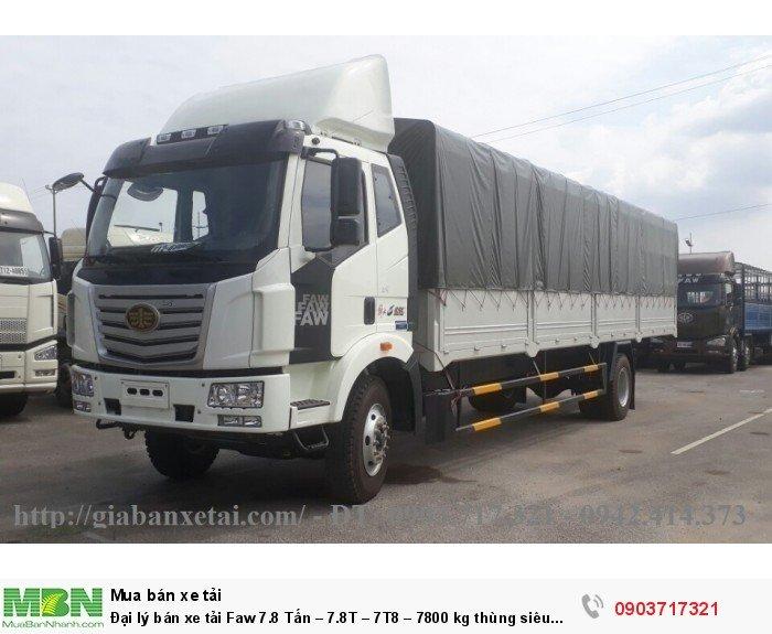 Đại lý bán xe tải Faw 7.8 Tấn – 7.8T – 7T8 – 7800 kg thùng siêu dài giá tốt giao ngay 2