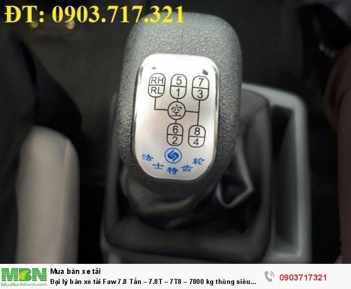 Đại lý bán xe tải Faw 7.8 Tấn – 7.8T – 7T8 – 7800 kg thùng siêu dài giá tốt giao ngay 3