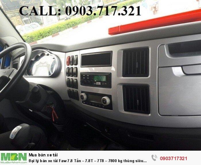Đại lý bán xe tải Faw 7.8 Tấn – 7.8T – 7T8 – 7800 kg thùng siêu dài giá tốt giao ngay 4