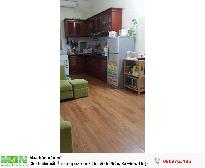 Chính chủ cắt lỗ chung cư khu 7,2ha Vĩnh Phúc, Ba Đình. Thiện chí để lại nội thất, có gia lộc. MTG